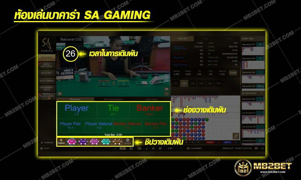 ห้องเล่นบาคาร่า Sa Gaming