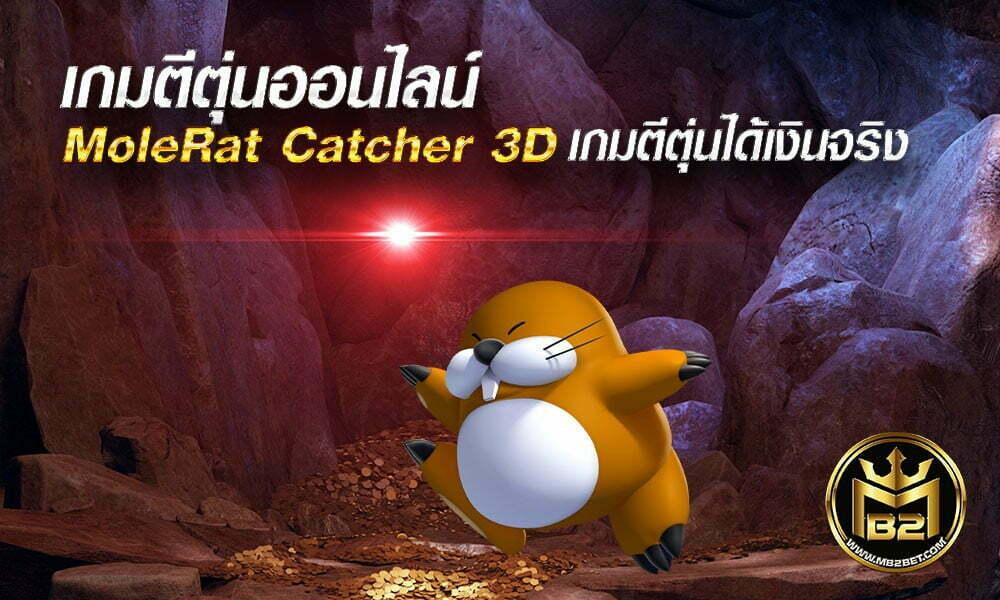 เกมตีตุ่นออนไลน์ MoleRat Catcher 3D เกมตีตุ่นได้เงินจริง